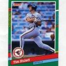 1991 Donruss Baseball #706 Tim Hulett - Baltimore Orioles
