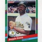 1991 Donruss Baseball #704 Reggie Harris - Oakland A's