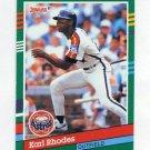 1991 Donruss Baseball #698 Karl Rhodes - Houston Astros