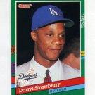 1991 Donruss Baseball #696 Darryl Strawberry - Los Angeles Dodgers