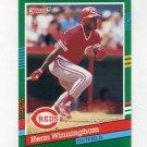 1991 Donruss Baseball #695 Herm Winningham - Cincinnati Reds