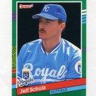 1991 Donruss Baseball #687 Jeff Schulz RC - Kansas City Royals