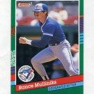 1991 Donruss Baseball #663 Rance Mulliniks - Toronto Blue Jays