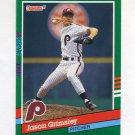 1991 Donruss Baseball #653 Jason Grimsley - Philadelphia Phillies