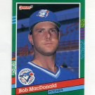 1991 Donruss Baseball #636 Bob MacDonald RC - Toronto Blue Jays
