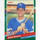 1991 Donruss Baseball #617 Brent Mayne - Kansas City Royals