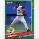 1991 Donruss Baseball #608 Ted Power - Pittsburgh Pirates