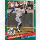 1991 Donruss Baseball #585 Mookie Wilson - Toronto Blue Jays