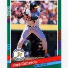 1991 Donruss Baseball #536 Jose Canseco - Oakland A's ExMt