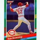 1991 Donruss Baseball #528 Tom Browning - Cincinnati Reds