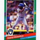 1991 Donruss Baseball #517 Darryl Hamilton - Milwaukee Brewers