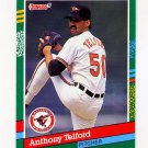 1991 Donruss Baseball #501 Anthony Telford RC - Baltimore Orioles