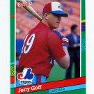 1991 Donruss Baseball #499 Jerry Goff - Montreal Expos