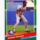 1991 Donruss Baseball #491 Andres Thomas - Atlanta Braves