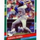 1991 Donruss Baseball #488 Alfredo Griffin - Los Angeles Dodgers