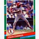1991 Donruss Baseball #487 Vince Coleman - St. Louis Cardinals