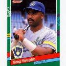 1991 Donruss Baseball #478 Greg Vaughn - Milwaukee Brewers