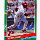 1991 Donruss Baseball #466 Ricky Jordan - Philadelphia Phillies