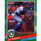 1991 Donruss Baseball #460 B.J. Surhoff - Milwaukee Brewers