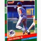 1991 Donruss Baseball #452 Ken Griffey Sr. - Seattle Mariners