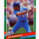 1991 Donruss Baseball #448 Jim Eisenreich - Kansas City Royals