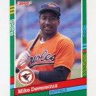 1991 Donruss Baseball #444 Mike Devereaux - Baltimore Orioles
