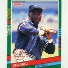 1991 Donruss Baseball #442 Mel Hall - New York Yankees