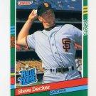 1991 Donruss Baseball #428 Steve Decker RR RC - San Francisco Giants
