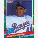 1991 Donruss Baseball #419 Gerald Alexander RR RC - Texas Rangers