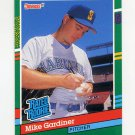 1991 Donruss Baseball #417 Mike Gardiner RR RC - Seattle Mariners
