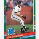 1991 Donruss Baseball #416 Eric Gunderson RR - San Francisco Giants