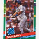 1991 Donruss Baseball #414 Tim McIntosh RR - Milwaukee Brewers