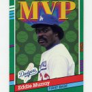 1991 Donruss Baseball #405 Eddie Murray MVP - Los Angeles Dodgers Ex