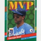 1991 Donruss Baseball #396 George Brett MVP - Kansas City Royals ExMt