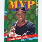 1991 Donruss Baseball #391 Candy Maldonado MVP - Cleveland Indians