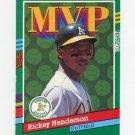 1991 Donruss Baseball #387 Rickey Henderson MVP - Oakland A's Ex