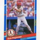 1991 Donruss Baseball #337 Tom Pagnozzi - St. Louis Cardinals