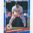 1991 Donruss Baseball #293 Craig Worthington - Baltimore Orioles