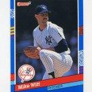 1991 Donruss Baseball #282 Mike Witt - New York Yankees
