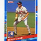 1991 Donruss Baseball #244 Tommy Gregg - Atlanta Braves