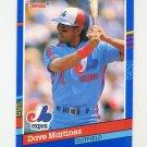 1991 Donruss Baseball #237 Dave Martinez - Montreal Expos