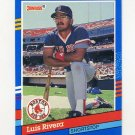 1991 Donruss Baseball #234 Luis Rivera - Boston Red Sox