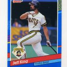 1991 Donruss Baseball #233 Jeff King - Pittsburgh Pirates