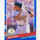 1991 Donruss Baseball #214 Walt Weiss - Oakland A's