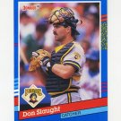 1991 Donruss Baseball #213 Don Slaught - Pittsburgh Pirates