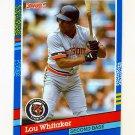 1991 Donruss Baseball #174 Lou Whitaker - Detroit Tigers