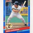 1991 Donruss Baseball #121 Mike LaValliere - Pittsburgh Pirates