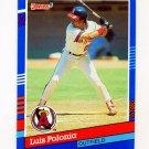 1991 Donruss Baseball #093 Luis Polonia - California Angels