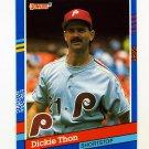 1991 Donruss Baseball #091 Dickie Thon - Philadelphia Phillies