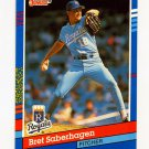1991 Donruss Baseball #088 Bret Saberhagen - Kansas City Royals